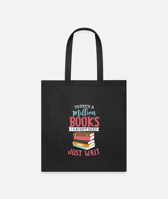 Read Bags & Backpacks - There's a million Books - Tote Bag black
