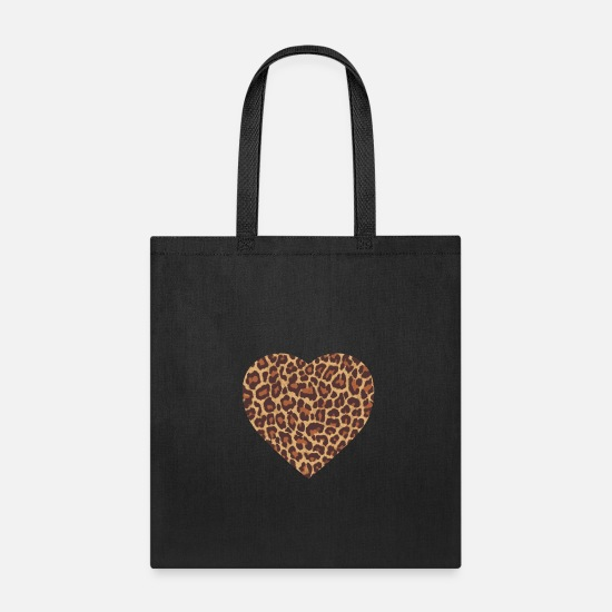 Heart Bags & Backpacks - Proud Zoo Keeper Cheetah Wilderness Cat - Tote Bag black