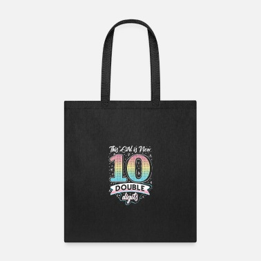 Double this girl is now 10 double digits tenth birthday - Tote Bag