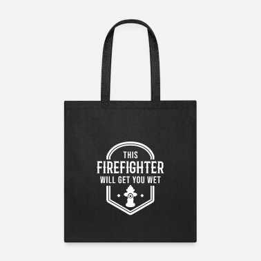Fire fire brigade voluntary FFW car man profession - Tote Bag
