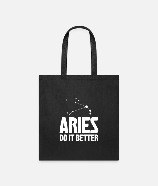 Capricorn Bags & Backpacks - Aries do it better - Tote Bag black