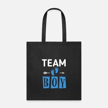 Boy Team Boy Gender Reveal Baby T shirt - Tote Bag