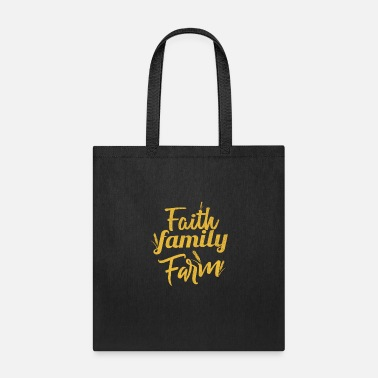 Christian Family Faith Family Farm Christian Living - Tote Bag