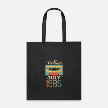 Round Birthday Vintage July 1985 35th Birthday 35 Year Gift - Tote Bag