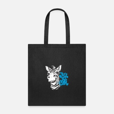 Cool Just Be Cool Zebra - Goofy Horse - Tote Bag