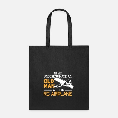 Airplane Old Man With An RC Airplane T Shirt - Tote Bag