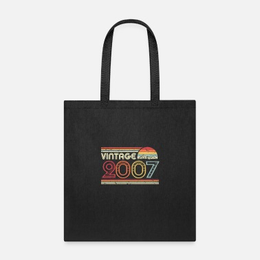 Production Year 2007 Vintage Design, Birthday Gift Tee. Retro - Tote Bag