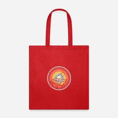 Singing Piano Graphic. Retro Style Design For Pianist - Tote Bag