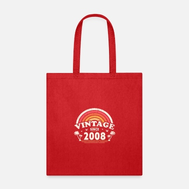 Year Of Birth Vintage Since 2008, Birthday Gift For Men And - Tote Bag