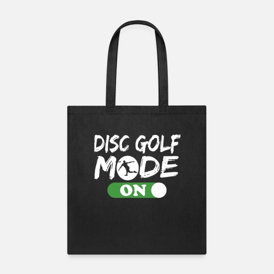 Disc Bags & Backpacks - Disc Golf products for Men Disc Golf Mode On - Tote Bag black