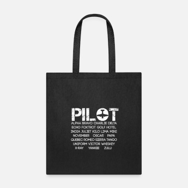 Traffic Light Pilot Alphabet - Tote Bag