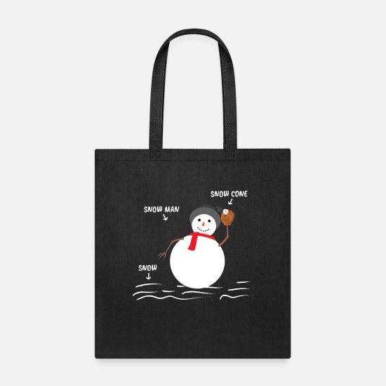 Joke Bags & Backpacks - Baseball Design for Base Ball Lovers - Tote Bag black