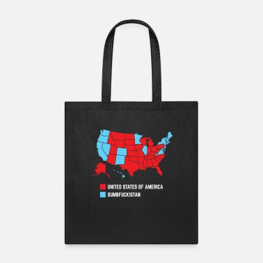 Constitution Funny USA Political Map Pro American Design - Tote Bag