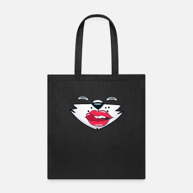 Tongue Tongue Out Fox Wide Mouth Filter Costume - Tote Bag