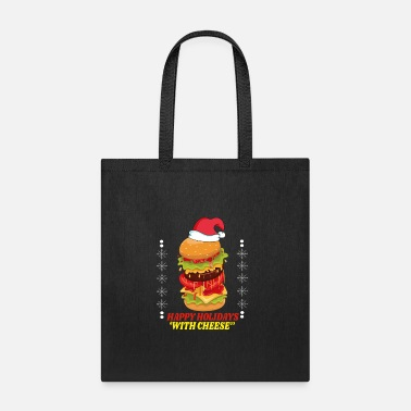 Holidays happy holidays with cheese - Tote Bag