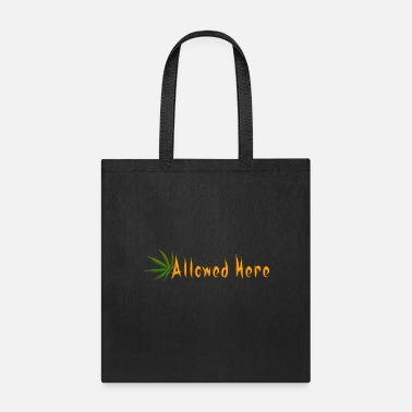 Bowling Stones Allowed Here - weed/marijuana t-shirt - Tote Bag