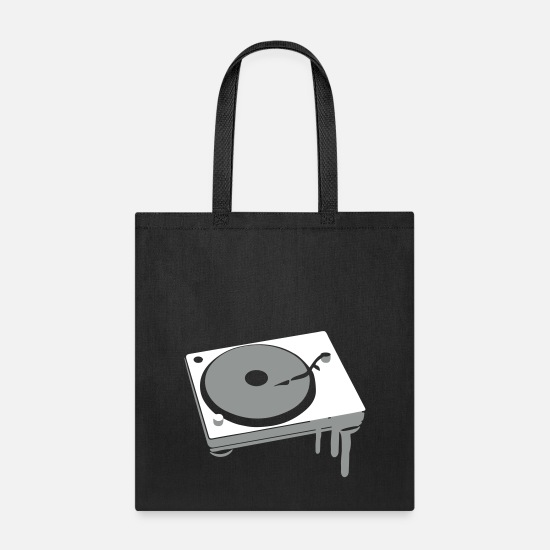Music Bags & Backpacks - Turntable Stamp Graffiti Music House - Tote Bag black