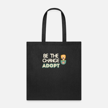 Puppy Be The Change Adopt Dog Pocket - Tote Bag