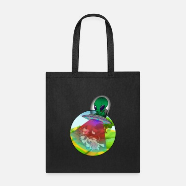 Ufo Cow Ufo Alien gift idea. - Tote Bag