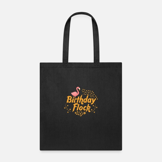 Birthday Bags & Backpacks - Birthday Bash Themed Costume Club Flocking - Tote Bag black