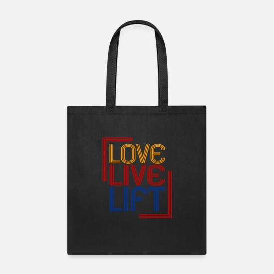 Gym Bags & Backpacks - Love Live Lift - Premium Design - Tote Bag black