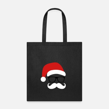 Santa Claus Funny Santa Claus with nerd glasses and mustache - Tote Bag