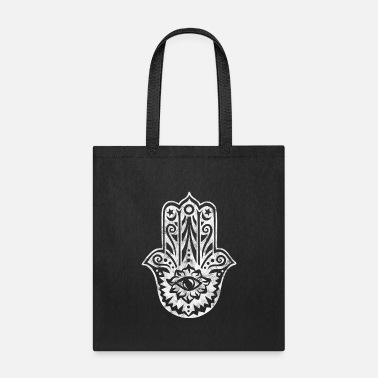 Hamsa Hand of Fatima All Seeing Eye Protection - Tote Bag