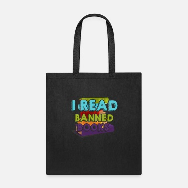 Funny-reading Funny Reading - I Read Banned Books - Words - Tote Bag