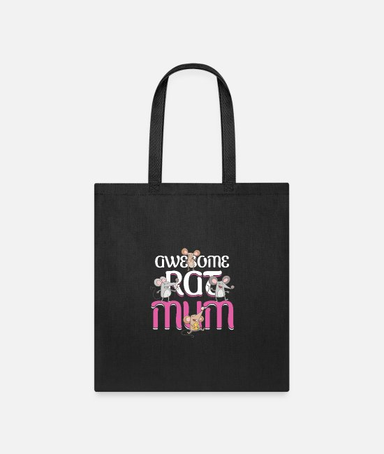 Animal Welfare Bags & Backpacks - Awesome Rat Mum Mouse Mice Rodent Animal Pet Gift - Tote Bag black
