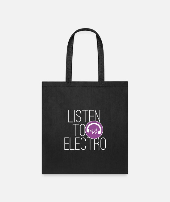 "Heart Bags & Backpacks - Electro Music ""Listen To Electro"" - Tote Bag black"
