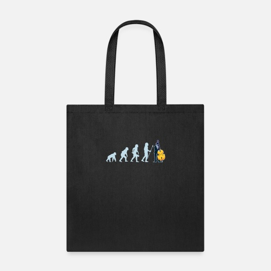 Bass Player Bags & Backpacks - Double Bass Player Contrabassist Contrabass - Tote Bag black