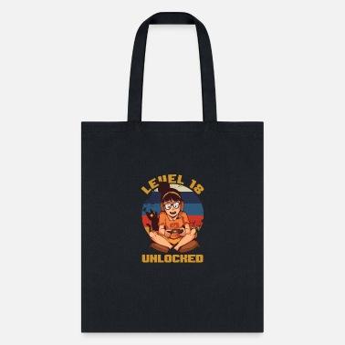 18th Birthday Celebration Gift Level 18 Unlocked Tote Bag