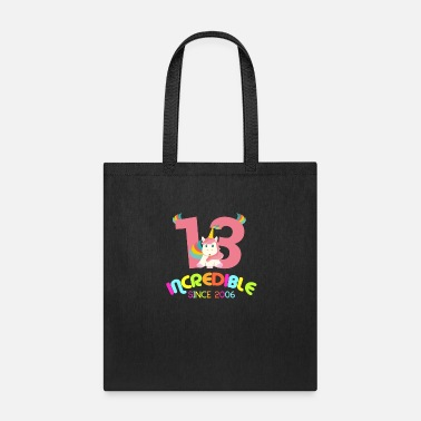 Awesome Since 13th Birthday Celebration Gift Incredible Since - Tote Bag