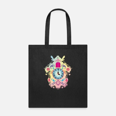Black Forest Clock decorative colorful cuckoo clock - Tote Bag