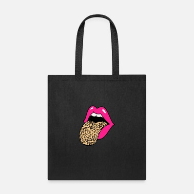 Leopard Hot Pink Lips Leopard Tongue - Tote Bag
