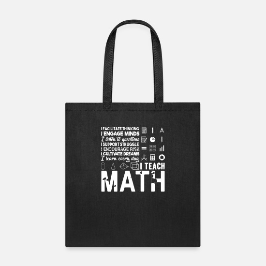 Maths Bags & Backpacks - Math Teacher - Tote Bag black