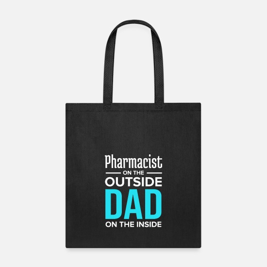 Birthday Bags & Backpacks - 014 Pharmacist Dad No Grunge - Tote Bag black