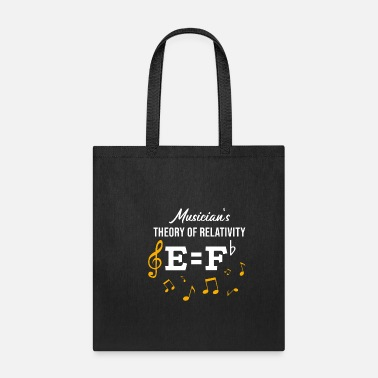 Music MUSIC Theory Of Relativity musical notes gift idea - Tote Bag