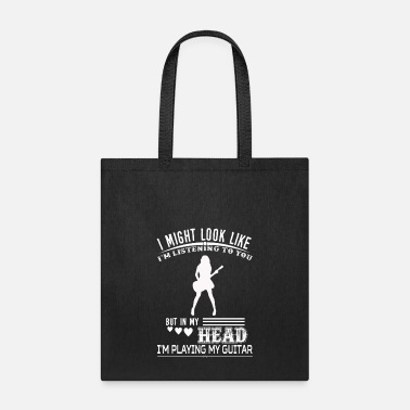 Playing Playing My Guitar Funny Tshirt - Tote Bag