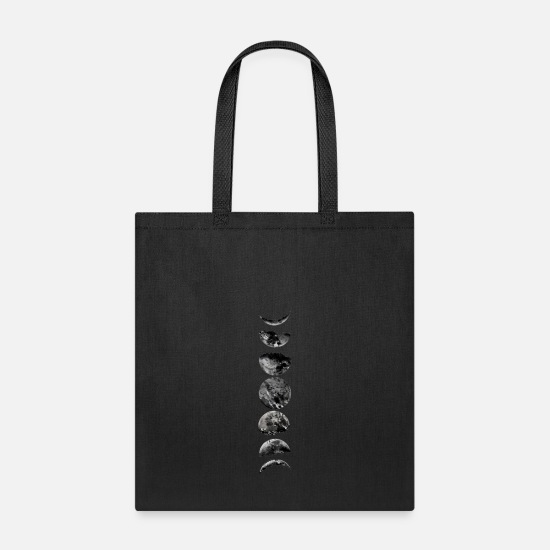 Moon Bags & Backpacks - Moon Phases - Tote Bag black