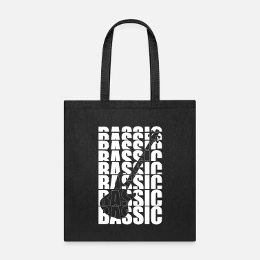 Basslines Typo BASSIC bass guitar player trend design gift - Tote Bag