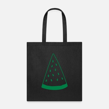 Cartoon watermelon piece melon delicious food fruit hunger - Tote Bag