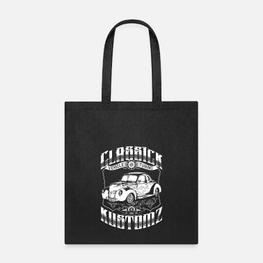 Bikes And Cars Collection Classick Kustomz (white) - Tote bag
