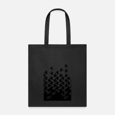 Bird Fish and Birds Art Deco Tessellation - Tote Bag