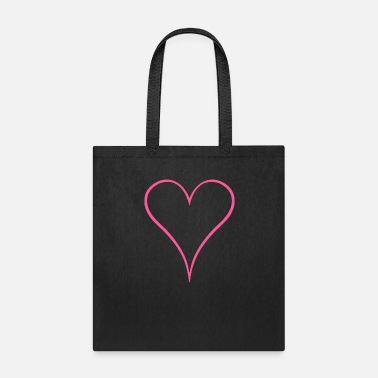 Symbols & Shapes New Pink heart design - Tote Bag
