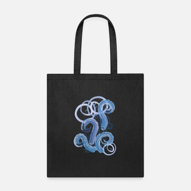 Abstract abstract blue tide - Tote Bag