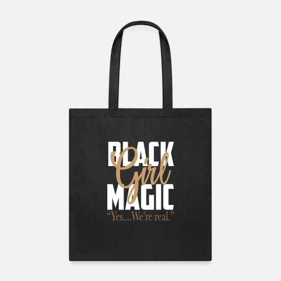 Black Bags & Backpacks - Black Girl Magic Black History Month - Tote Bag black