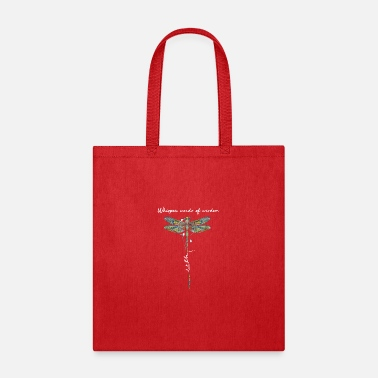 Word Dragonfly whisper words of wisdom let it be - Tote Bag