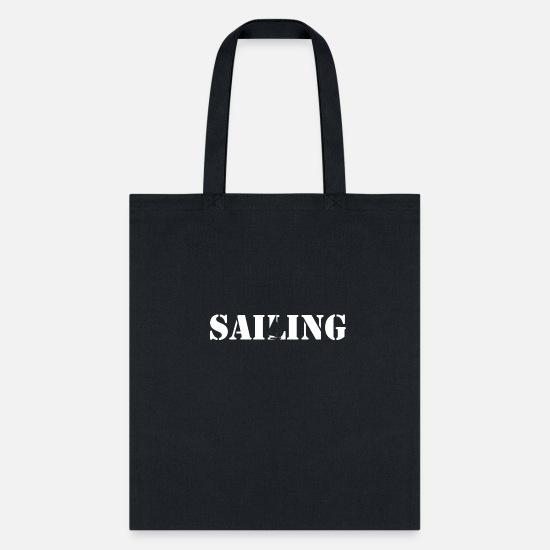 Sailing Yacht Sailor Skipper Tote Bag Black