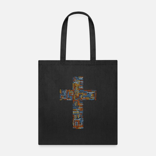 Catholic Bags & Backpacks - catholic - Tote Bag black